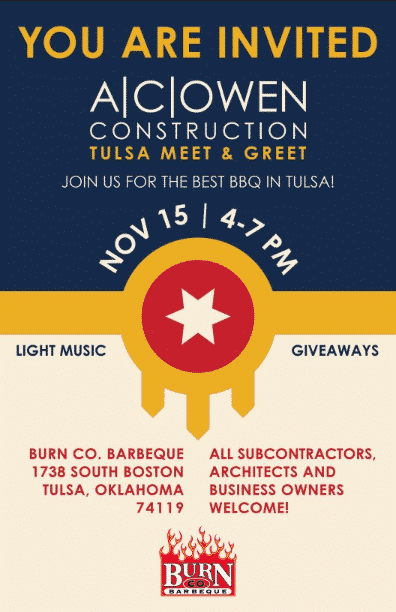 Tulsa Meet and Greet at Burn Co. BBQ