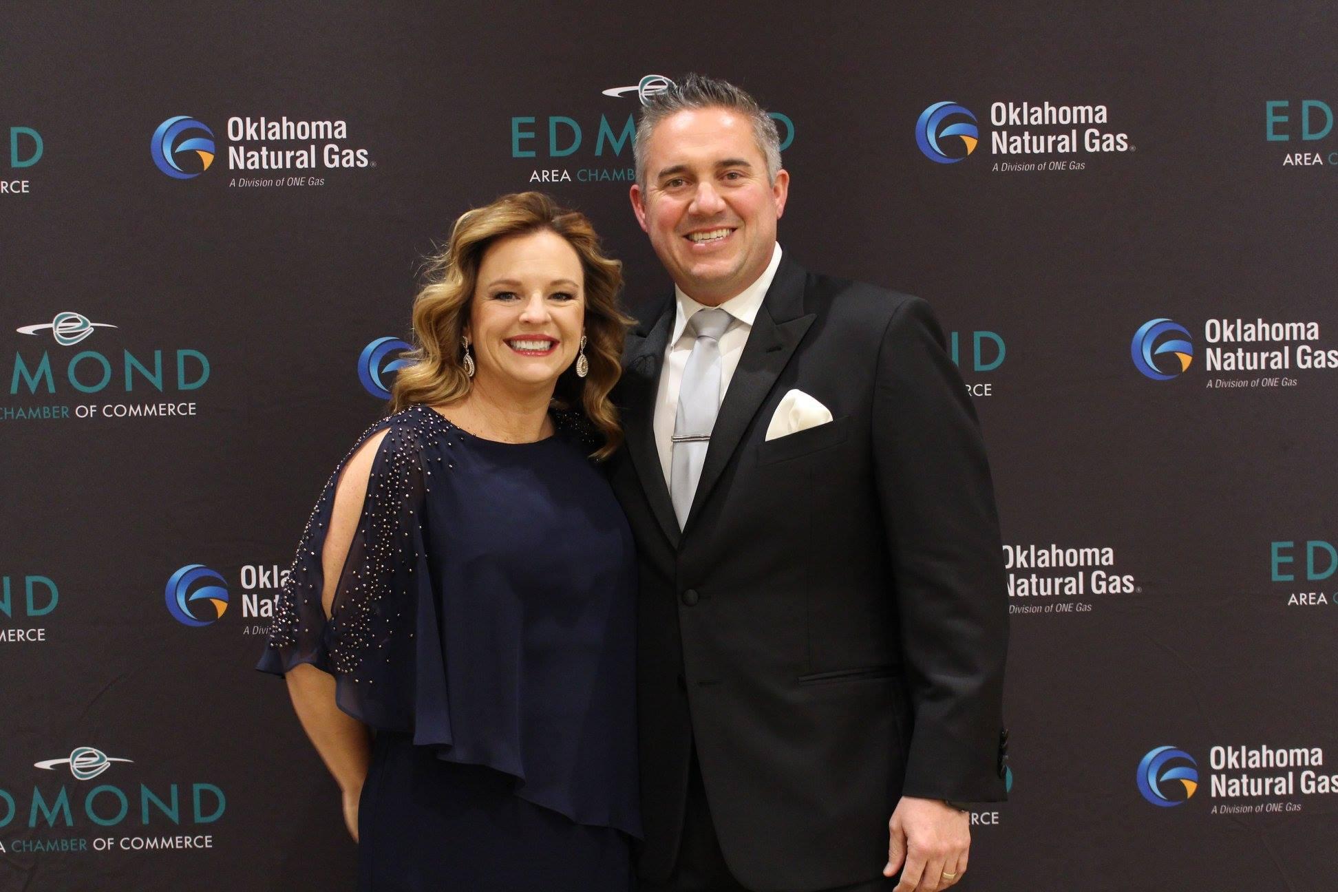 Aaron Owen with wife Megan